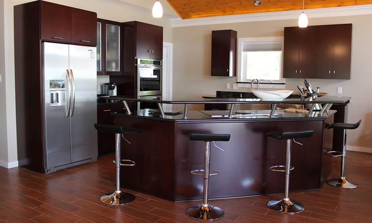 Hardwood Custom Kitchen Cabinets ...