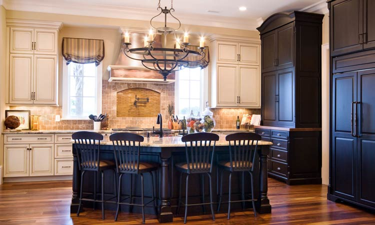 Hardwood Custom Kitchen Cabinets ...