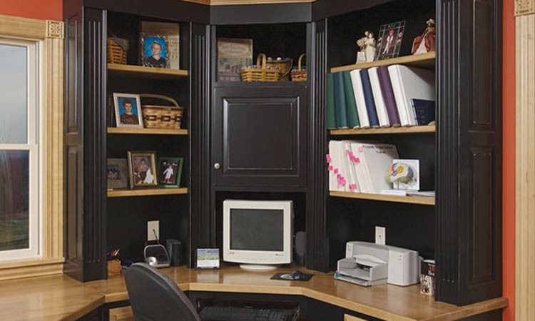Home Office Cabinets by Schlabach Wood Design in Ohio