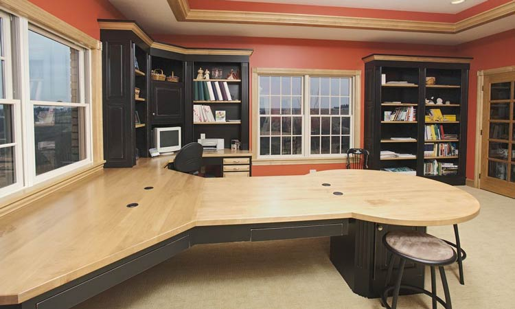 ohio hardwood home office cabinets | schlabach wood design