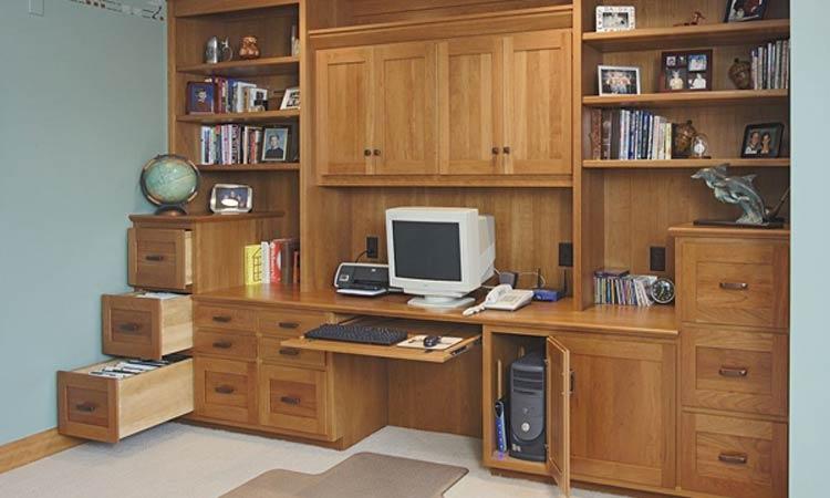 Custom Office Cabinetry Design ~ Ohio hardwood home office cabinets schlabach wood design